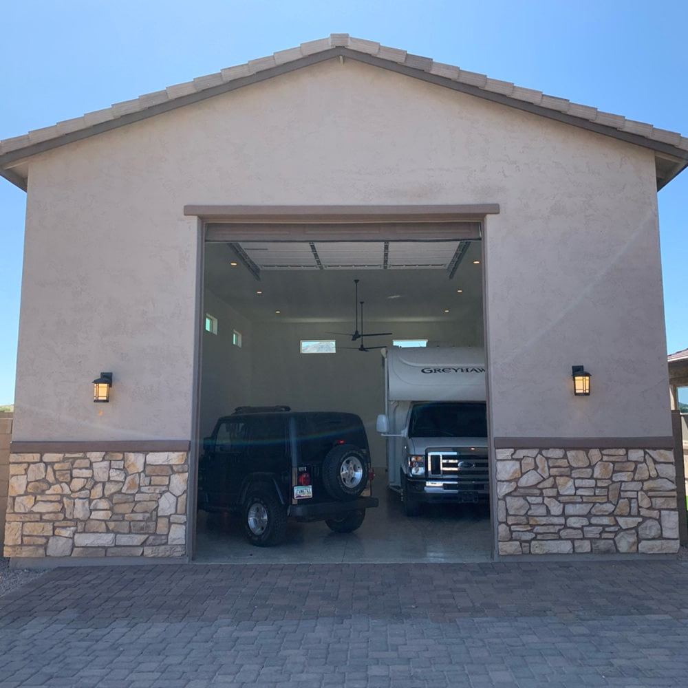Detached RV Garage Builders Arizona